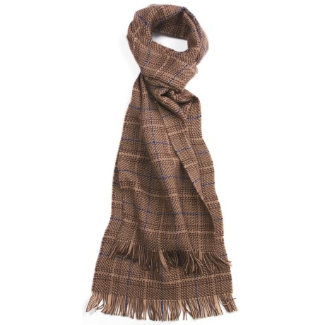 Johnstons of Elgin Merino Wool Glen Check Scarf (For Men)