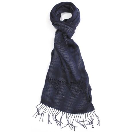 Johnstons of Elgin Diamond Scarf - Cashmere-Silk (For Men)