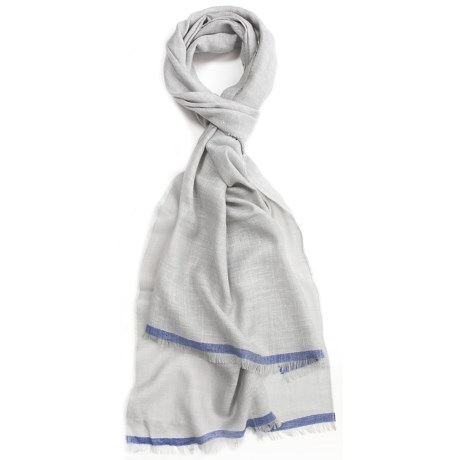 Johnstons of Elgin Wool-Silk-Linen Scarf (For Men and Women)
