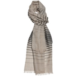 Johnstons of Elgin Scarf - Ombre Stripe (For Men and Women)