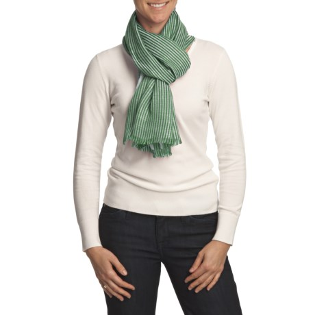 Johnstons of Elgin Luxe Stripe Scarf (For Women)
