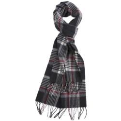 Johnstons of Elgin Shepherd Check Scarf - Cashmere-Merino Wool (For Men)