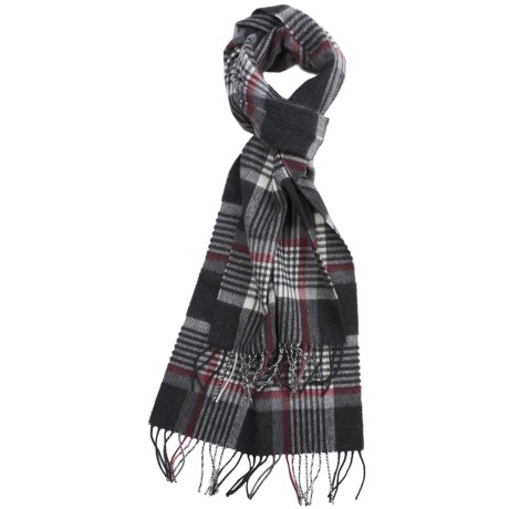 Johnstons of Elgin Shepherd Check Scarf - Cashmere-Merino Wool (For Men)