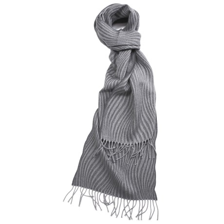 Johnstons of Elgin Merino Wool Scarf - Bedford Cord (For Men and Women)