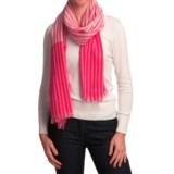 Johnstons of Elgin Extrafine Merino Wool Scarf - Lightweight (For Women)
