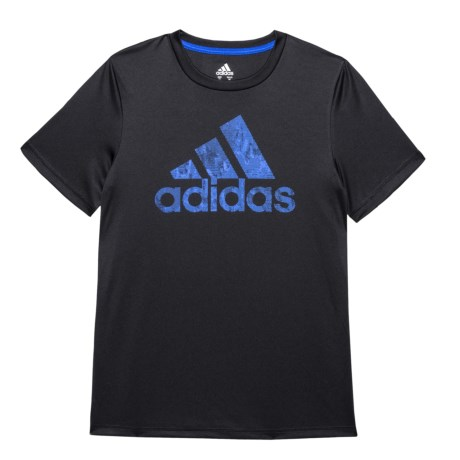 adidas Pattern Fill Logo T-Shirt - Short Sleeve (For Big Boys)