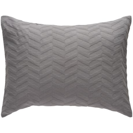 Bambeco Matelasse Chevron Pillow Sham - Standard, Organic Cotton