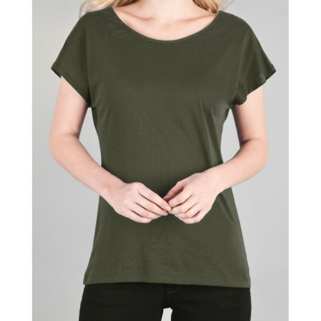 Lilla P Whisper-Weight Pima Cotton Shirt - Short Dolman Sleeve (For Women)