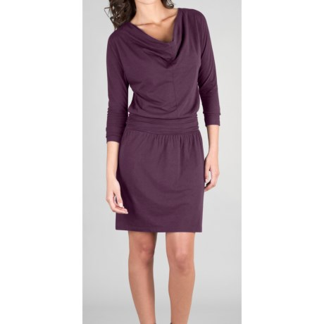 Lilla P Drop-Waist Dress - Stretch Pima Cotton-Modal, 3/4 Sleeve (For Women)