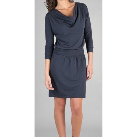 Lilla P Drop-Waist Dress - Stretch Pima Cotton-Modal, 3/4 Sleeve (For Women)