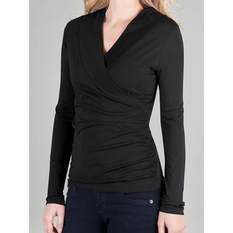 Lilla P Surplice Shirt - Pima Cotton Jersey, Long Sleeve (For Women)