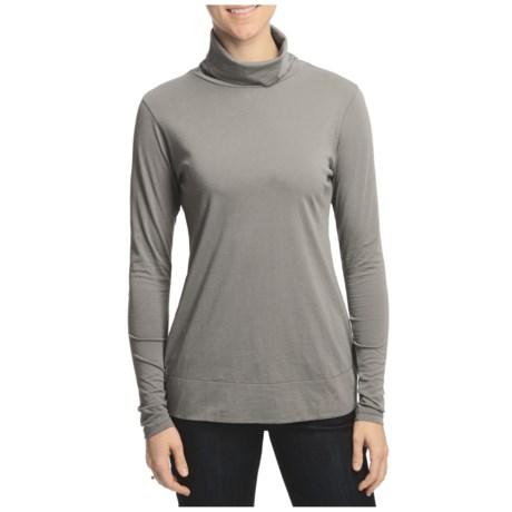 Lilla P Pima Basic Turtleneck Tunic Shirt - Pima Cotton, Long Sleeve (For Women)