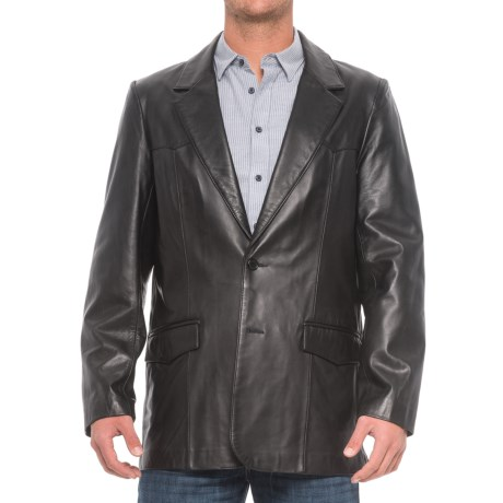 Scully Hand-Rubbed Leather Blazer (For Tall Men)