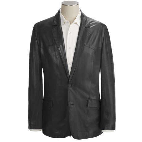 Scully Hand-Rubbed Leather Blazer (For Men)