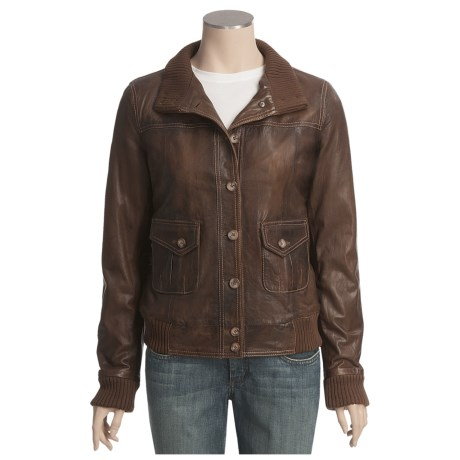 Scully Rugged Bomber Jacket - Lamb Leather (For Women)