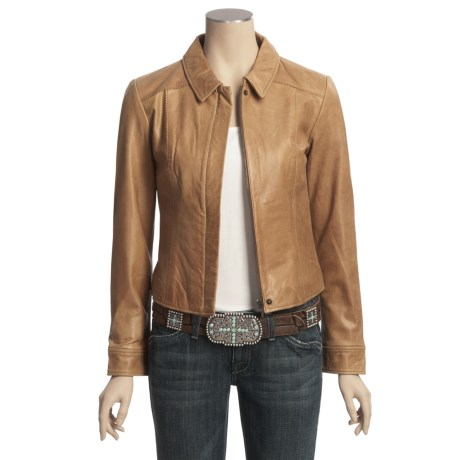 Scully Leather Zip Front Jacket (For Women)