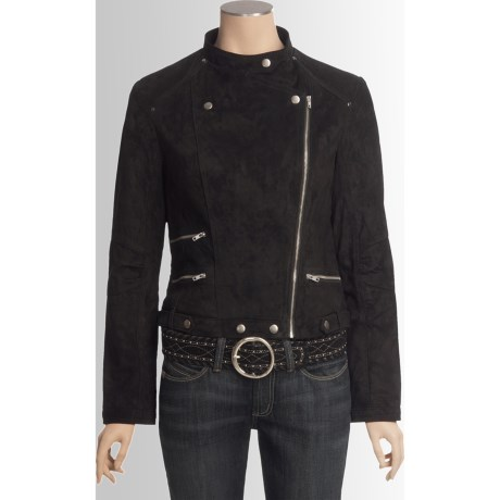 Scully Moto Suede Leather Jacket (For Women)
