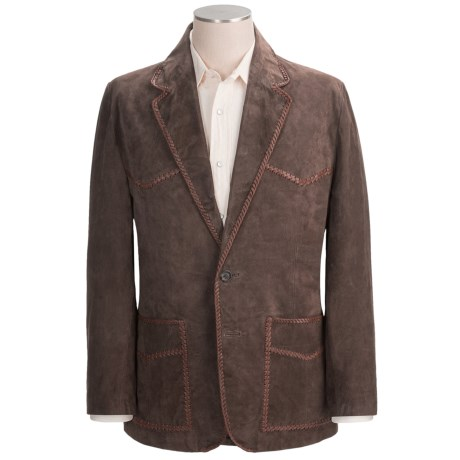 Scully Suede Leather Blazer - Whipstitched (For Men)