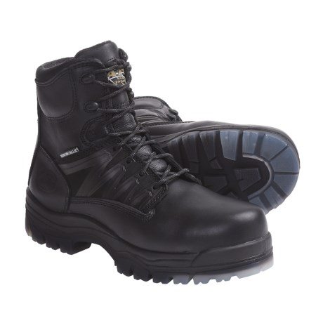 "Oliver AT 45-645C 6"" Lace-Up Safety Toe Mid Work Boots - Leather, Composite Toe (For Men)"