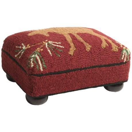 Chandler 4 Corners Hooked Wool Footstool