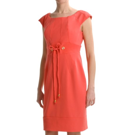 Chetta B Crepe Dress - Short Sleeve (For Women)