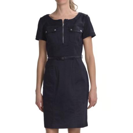 Chetta B Cotton Poplin Shirt Dress - Short Sleeve (For Women)