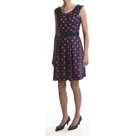 Chetta B Cotton Polka-Dot Dress - Sleeveless (For Women)