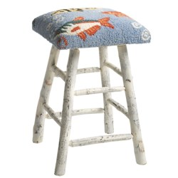 Chandler 4 Corners Hickory and Wool Counter Stool