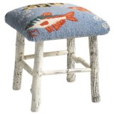 Chandler 4 Corners Hickory and Wool Foot Stool