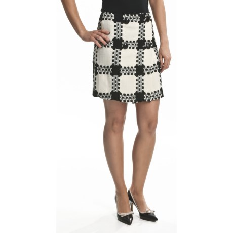 Focus 2000 White Plaid Skirt (For Women)