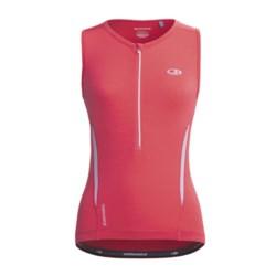 Icebreaker GT Bike Halo Cycling Jersey - Merino Wool, Zip Neck, Sleeveless (For Women)