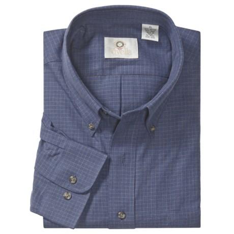 Viyella Cotton-Merino Wool Sport Shirt - Long Sleeve (For Men)