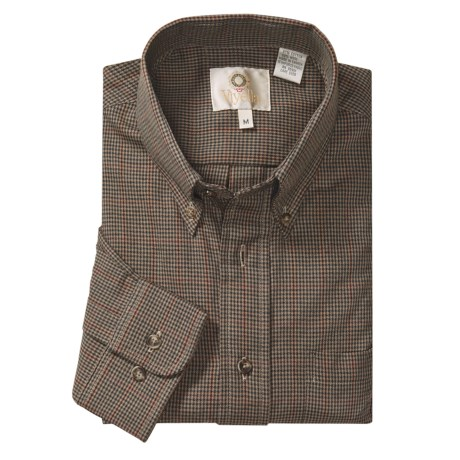 Viyella Houndstooth Sport Shirt - Cotton-Wool, Long Sleeve (For Men)