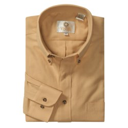Viyella Cotton-Wool Sport Shirt -  Long Sleeve (For Men)