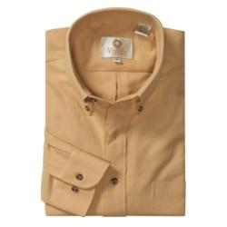 Viyella Cotton-Wool Sport Shirt -  Long Sleeve (For Men)