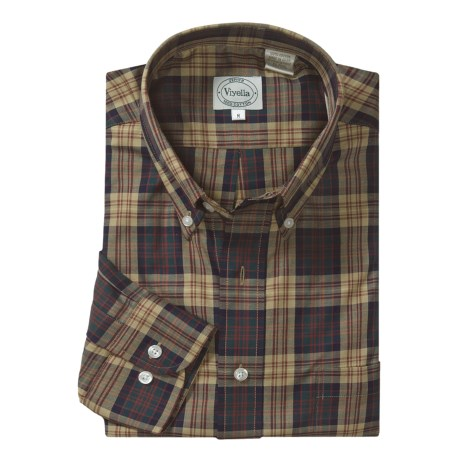 Viyella Plaid Sport Shirt - Long Sleeve (For Men)