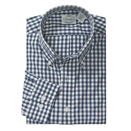 Viyella Cotton Check Sport Shirt - Long Sleeve (For Men)