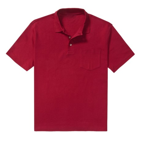 Single Pocket Polo - Pima Cotton Interlock, Short Sleeve (For Men)