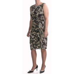 TRIBAL Travel by  Abstract Dress - Side Gathering, Sleeveless (For Women)