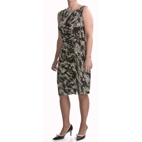 Travel by Tribal Abstract Dress - Side Gathering, Sleeveless (For Women)