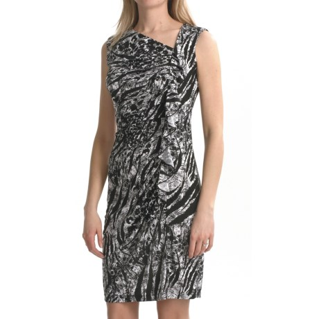 Travel by Tribal Sportswear Ruffled Jersey Dress - Sleeveless (For Women)