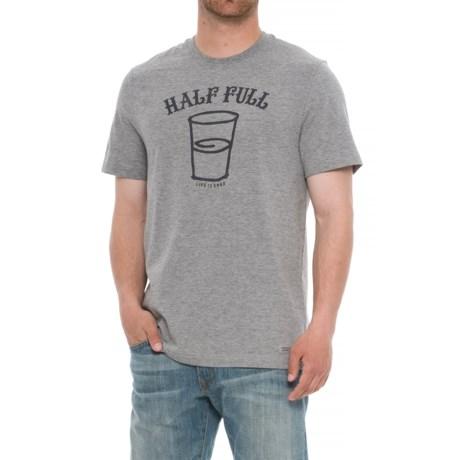 Life is good® Half Full Arc Crusher T-Shirt - Crew Neck, Short Sleeve (For Men)