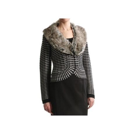 Tribal Sportswear Jacquard Cardigan Sweater (For Women)