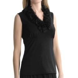 Travel by Tribal Sportswear Jersey-Chiffon Shirt - Sleeveless (For Women)