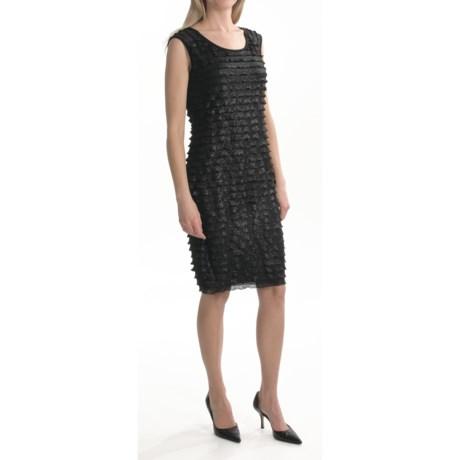 TRIBAL Travel by Tribal Sportswear Metallic Ruffle Dress - Sleeveless (For Women)