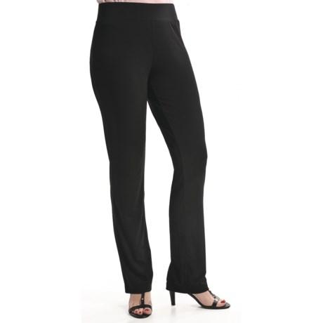 Travel by Tribal Sportswear Basic Knit Stretch Pants (For Women)