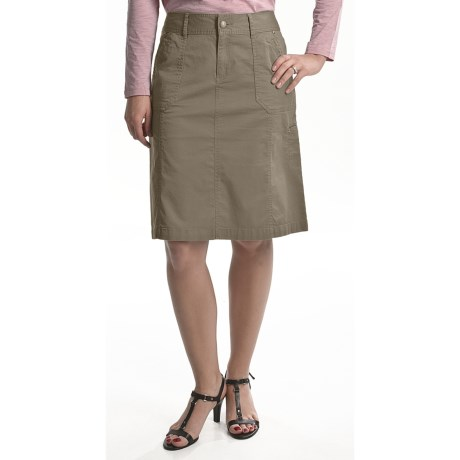 Tribal Sportswear Stretch Cotton Skirt (For Women)