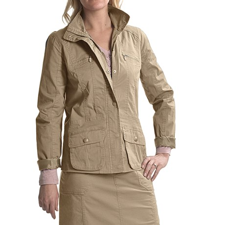 Tribal Sportswear Stretch Cotton Jacket (For Women)