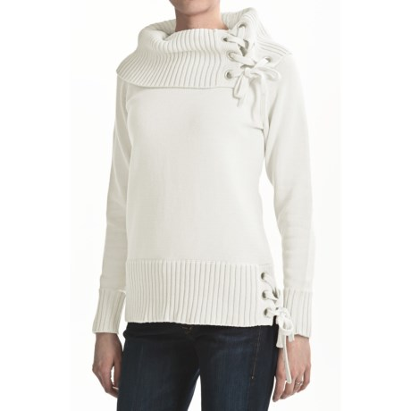 Tribal Sportswear Chunky Cotton Turtleneck - Grommet Trim, Long Sleeve (For Women)