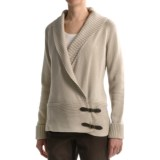 Tribal Sportswear Cotton Cardigan Sweater - Side Buckles (For Women)